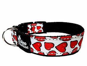 Pre zvieratká - Obojok Red Hearts - 12300524_