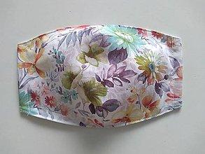 Rúška - Dizajnové rúška (Flowers) - 12300660_