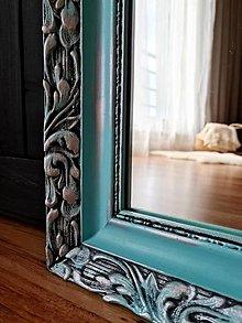 Zrkadlá - Zrkadlo v modro-striebornom ráme - 12300492_