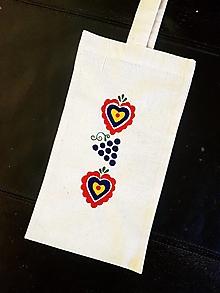 Iné tašky - •ručne maľovaná taška na fľašu• - 12299910_