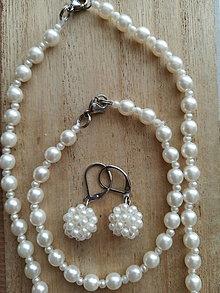 Sady šperkov - Perličkovo-biely set,CHO - 12301883_