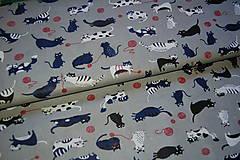 Textil - metráž mačky - 12300225_