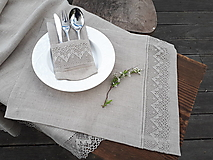 Ľanové prestieranie Luxury Linen Natur