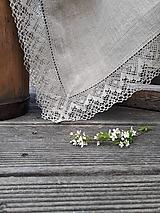 Úžitkový textil - Ľanový obrus Luxury Linen Natur (160x120 cm) - 12302427_