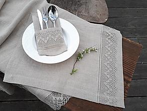 Úžitkový textil - Ľanové prestieranie Luxury Linen Natur - 12302342_