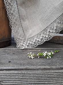 Úžitkový textil - Ľanový obrus Luxury Linen Natur (100x100 cm) - 12302427_