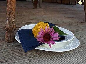 Úžitkový textil - Ľanový obrúsok Simply - 12302493_