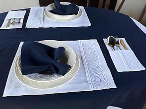 Úžitkový textil - Ľanové prestieranie Luxury Linen White - 12302507_