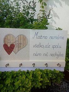 Nábytok - Vešiak - I Love - 12303766_