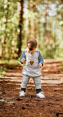 Detské oblečenie - Dupačky s vreckom - 12303582_