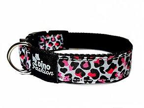 Pre zvieratká - Obojok Dinofashion Pink Leopard - 12303396_