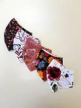 Rúška - Dizajnové bavlnené rúško - jeseň - 12305607_