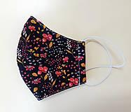Rúška - Dizajnové bavlnené rúško - jeseň - 12305610_