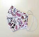 Rúška - Dizajnové bavlnené rúško - jeseň - 12305621_