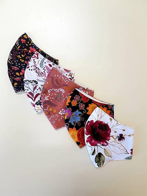 Dizajnové bavlnené rúško - jeseň