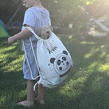 Detské tašky - Vrecko LiLu- panda kozmonaut - 12304388_