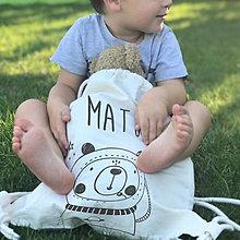Detské tašky - Vrecko Lilu - medvedík kozmonaut - 12304423_
