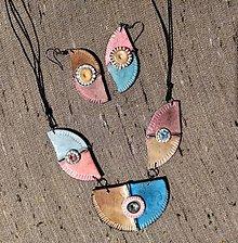 Sady šperkov - Ružovohnedý náhrdeľník - 12303285_