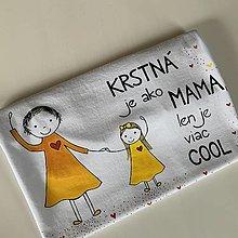 Tričká - Originálne maľované tričko pre KRSTNÚ/ KRSTNÉHO s 2 postavičkami (krstná + dievčatko 1) - 12303857_