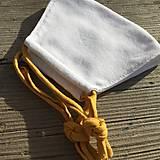 Rúška - biele rúško - špagetka vo farbe horčicovej - 12303595_