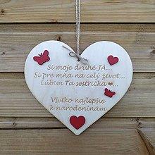 Tabuľky - Drevené srdce - 12306313_