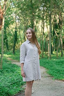 Šaty - Dámske košeľové šaty Adrika - 12305532_
