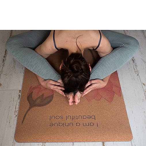 Korková podložka na cvičenie - Lotusy