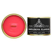 Svietidlá a sviečky - Sójová sviečka Candlerova flanelka, 140 g - 12306552_