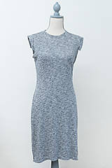 Šaty - Šedá elegancia - mini šaty - 12304421_