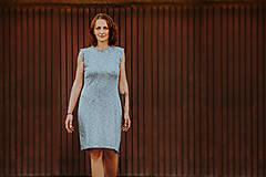 Šaty - Šedá elegancia - mini šaty - 12304425_