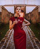 Šaty - Teplákové midi šaty In Vino - 12304605_