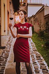 Šaty - Teplákové midi šaty In Vino - 12304613_
