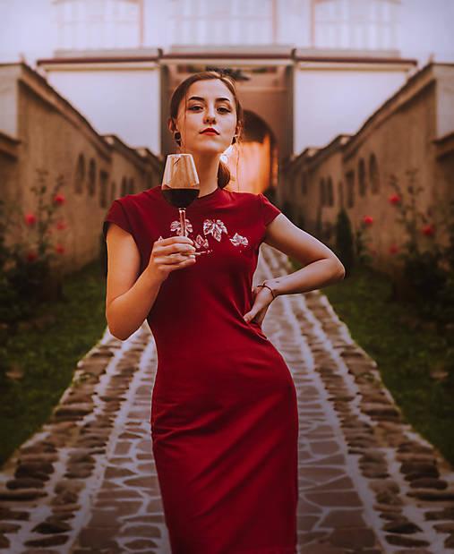 Teplákové midi šaty In Vino