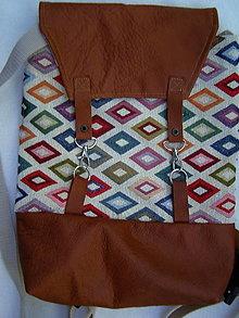 "Batohy - ruksačik ""kosoštvorce"" - 12308436_"