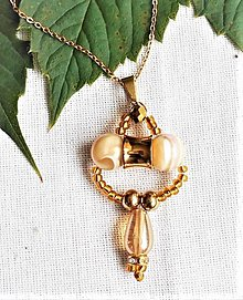 Náhrdelníky - Perlivé víno- náhrdelník - 12307578_