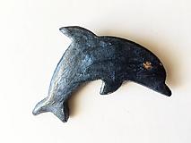 Odznaky/Brošne - delfín - 12307311_