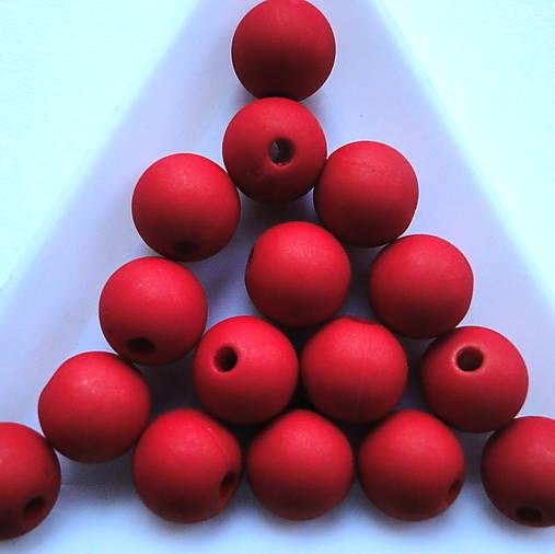 Plast MATT 10mm-10ks (červená)