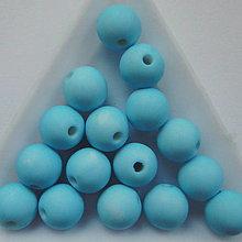 Korálky - Plast MATT 10mm-10ks - 12307800_