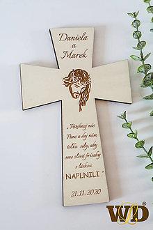 Dekorácie - Krížik na manželskú prísahu - 12308270_