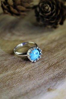 Prstene - tyrkys prsteň strieborný (ródiované striebro!) SUPERAKCIA! - 12306931_