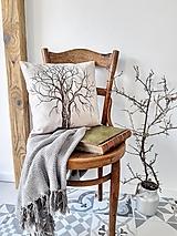 Úžitkový textil - Vankúš ručne maľovaný - strom - 12307966_