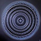 Obrazy - Mandala ÚSPECH A HOJNOSŤ - silver (kvet šťastia) 80 x 80 - 12307673_