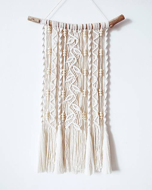 Dekorácie - Makramé závesná dekorácia WILD&FREE - 12307852_
