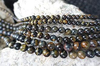 Minerály - Tigrie-Sokolie oko 6-8-10 (42ks (10mm)) - 12308228_