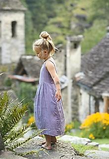 Detské oblečenie - Lněné šatičky Lila - 12308846_