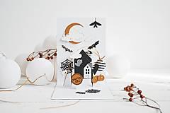 Papiernictvo - POP-UP pozdrav/pozvánka Halloween - V krajine duchov - 12310290_
