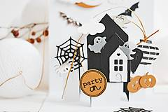Papiernictvo - POP-UP pozdrav/pozvánka Halloween - V krajine duchov - 12310292_