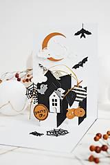 Papiernictvo - POP-UP pozdrav/pozvánka Halloween - V krajine duchov - 12310294_