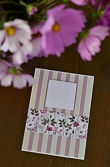 Papiernictvo - Shabby II. (Ružový pásik) - 12312010_