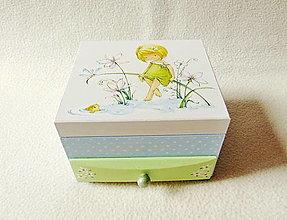 Krabičky - Šperkovnica so zrkadlom pre dievčatko - 12309676_